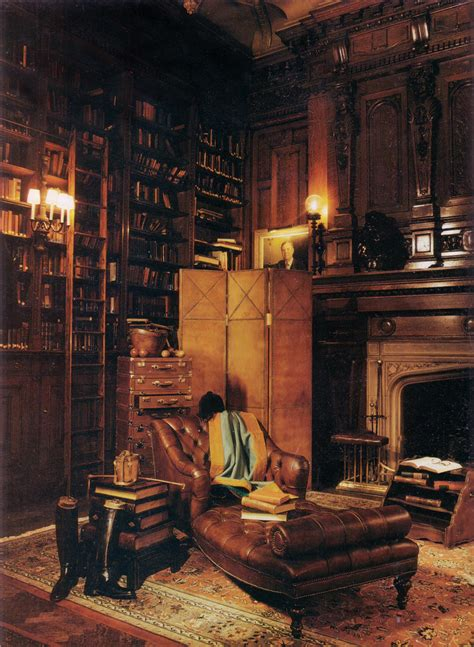 Victorian Leather Armchair English Library Pducklow2000 Flickr