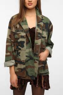 Womens Bench Jackets Urban Outfitters Oversized Camo Jacket In Green Lyst
