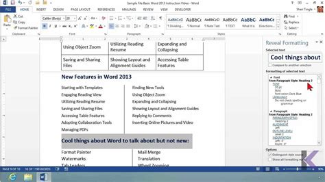 tutorial word 2013 microsoft office word 2013 tutorial the show hide button