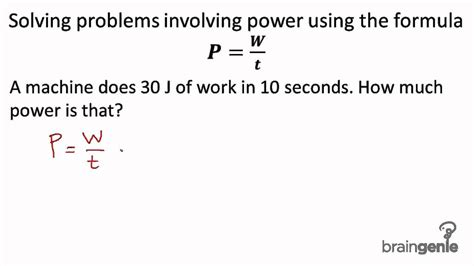 Pdf How To Do Physics Energy Problems by What Is The Formula For Power Www Pixshark Images