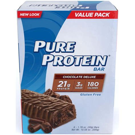 Protein Bar Protein Chocolate Deluxe Value Pack 6 Count 50 Gram
