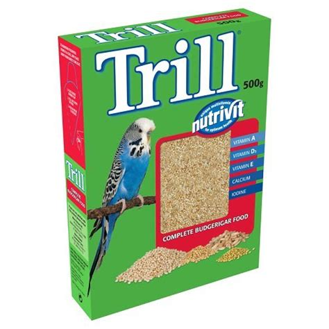 trill bird seed trill bird food nutrivit budgerigar food