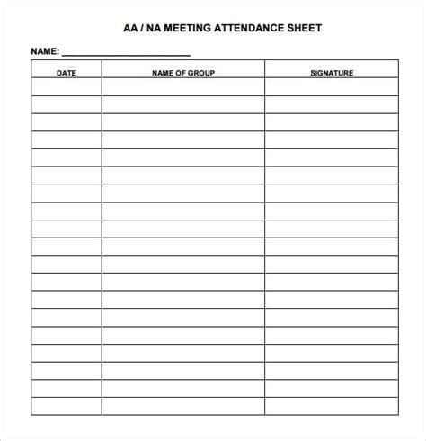 9 Attendance Sheet Templates Word Excel Pdf Formats Spreadsheet Attendance Template