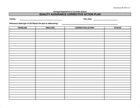 8 corrective action plan template excelreport template