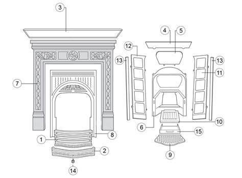 fireplace parts combination fireplace stovax spare parts