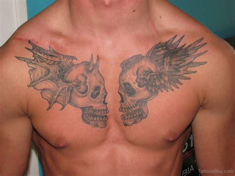 skull chest tattoos skull tattoos designs pictures page 29