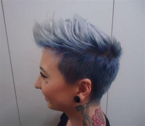 pictures of nice faded punk haircuts taelah bulley hair by maddy undercut fade denim blue