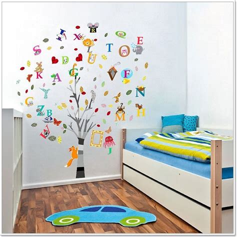 Childrens Bedroom Wall Stickers by Combo Education Alphabet Animal Tree Wall Stickers