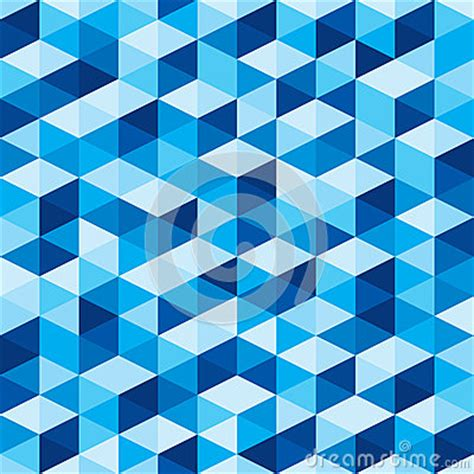 pattern in blue color abstract geometric background seamless blue pattern