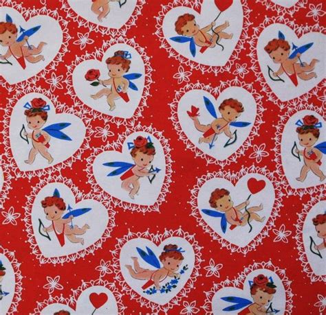 valentines wrapping paper vintage norcross wrapping paper gift wrap