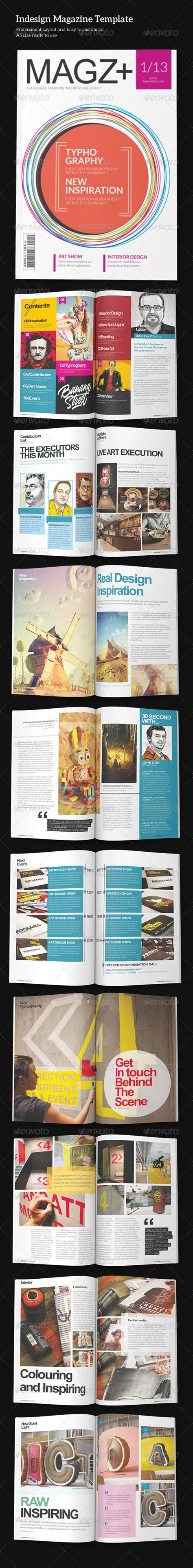 magazine layout template graphicriver indesign magazine template graphicriver