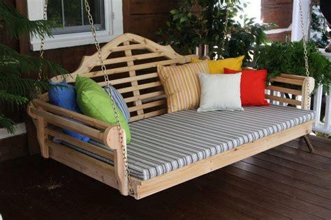 cedar pergola swing bed outdoor cedar swing bed pergola the owner builder network
