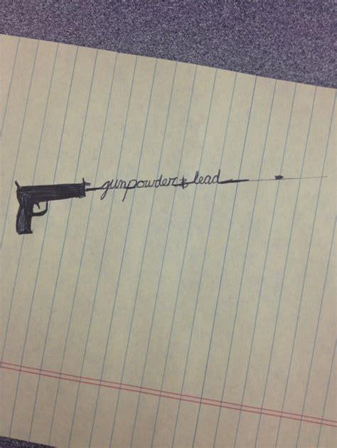 Tattoo Gun Leads | gun powder and lead tattoo cursive bullet trail tattoos