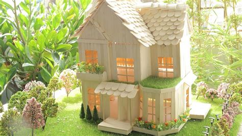 how to make a popsicle stick house and garden fobird