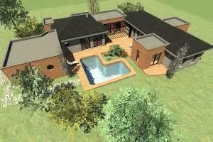 u home house plan 187 u shaped home house plan