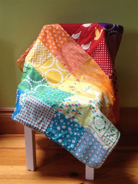 Patchwork Baby Blankets - patchwork rainbow minky baby blanket s boy s blanket