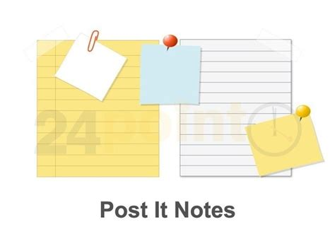 post it template post it notes powerpoint template powerpoint