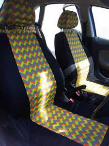 Chevron Seat Covers For A Car Items Similar To Funky Vintage Style Car Front Seat Covers