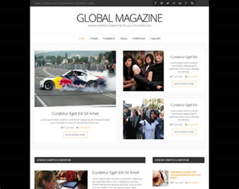 Global Magazine Website Template Premium Website Templates Os Templates Website Magazine Template