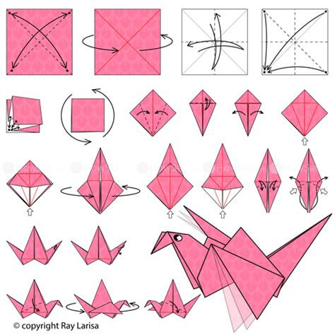 Make Origami Flying - flapping bird animated origami how to make