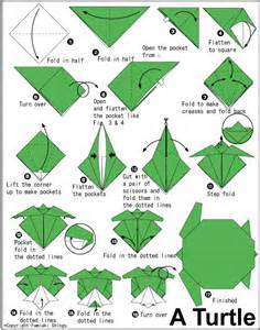 Origami B - origami turtle crafts are my