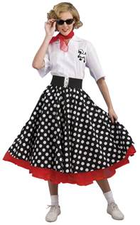 50 theme costumes hairdos deluxe polka dot 50 s costume costume craze