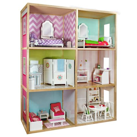 my house doll wicked cool toys my girl s dollhouse for 18 dolls modern style ebay