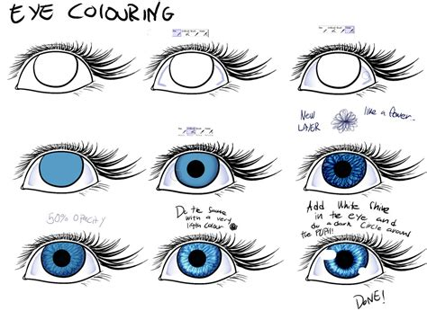 how to color eyes paint tool sai step by step coloring easy way to colour eyes easy paint tool sai by poka sorm