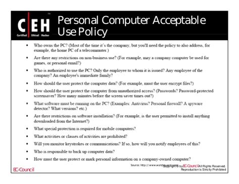 Company Computer Use Policy Template Choice Image Template Design Ideas Computer Use Policy Template