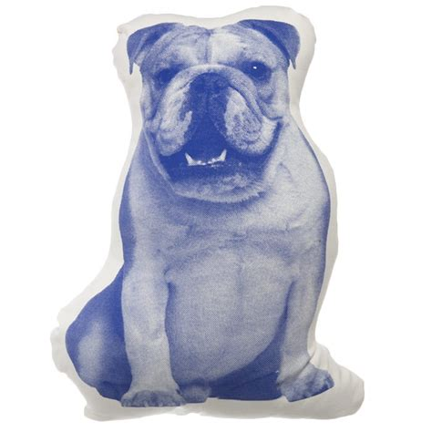 Bulldog Pillow by Bulldog Pillow Inspired By Shaped
