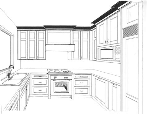 Draw Kitchen Cabinets Simple Kitchen Drawing Simple Kitchen Drawing Best Interior With Regard To Simple Kitchen