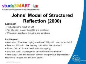 structured reflective template how to write reflectively academic development tutors