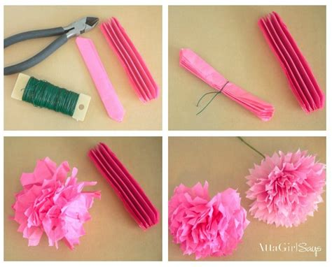 How To Make Paper Flowers With Tissue Paper - how to make tissue paper flowers atta says
