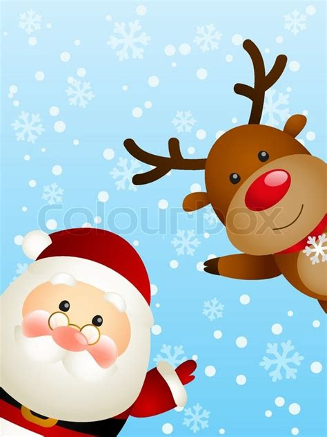cute santa  funny deer stock vector colourbox