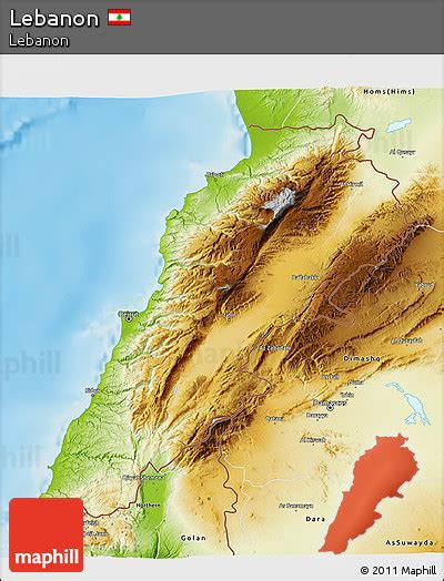 physical map of lebanon free physical 3d map of lebanon