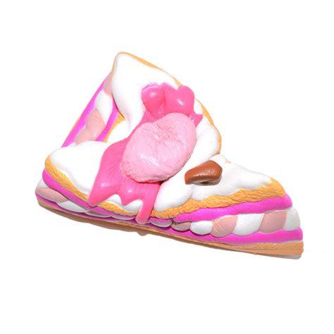 Kiibru Pink Slice Cake Squishy kiibru squishy cake slice 15 5cm rising original packaging collection gift