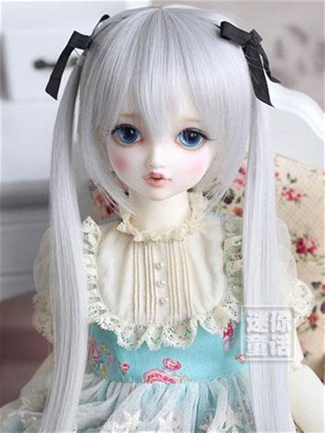 sizes of jointed dolls bjd gray wig for sd size jointed doll wig ball