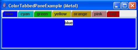 java swing color tab color exle tabbedpane 171 swing components 171 java