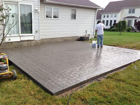 Concrete Patio by Sted Concrete Patio Ohio Difranco Contractors
