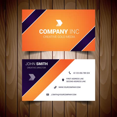 free orang and blue bussiness card templates orange and blue corporate business card free vector