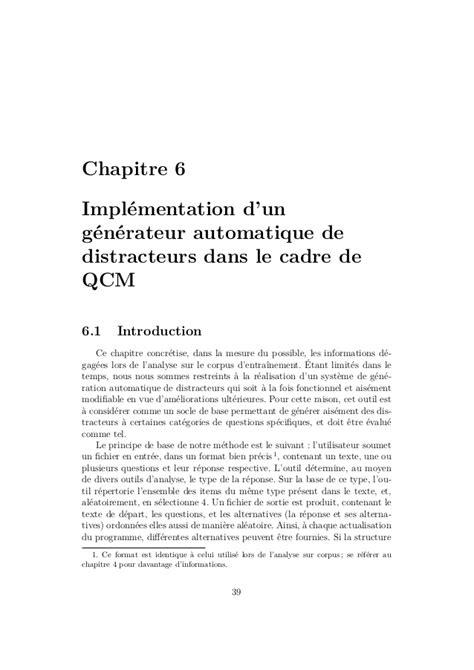 Génération automatique de distracteurs dans le cadre de QCM