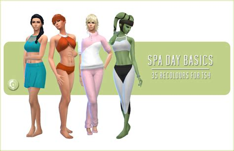 my sims 4 blog base game book recolors by inabadromance my sims 4 blog base game compatible spa day clothing