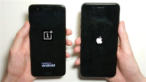 iphone 8 plus vs oneplus 5 speed test