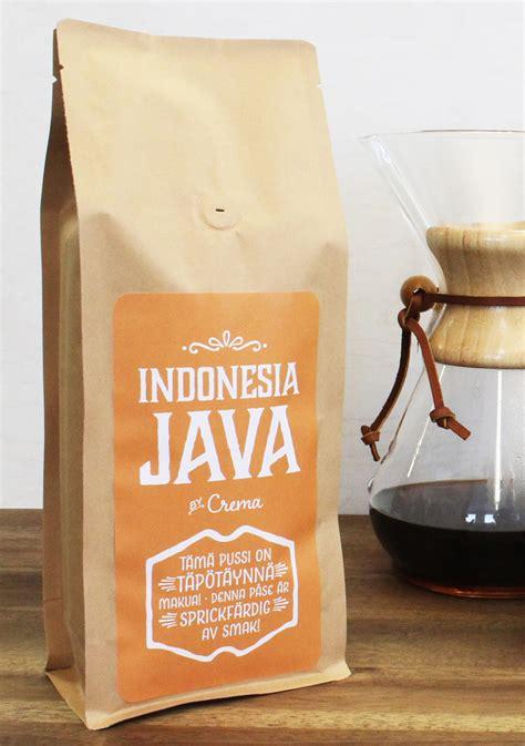 Coffee Indo crema indonesia java crema