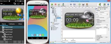 tutorial xwidget android xwidget temi orologio e meteo creati su pc windows su android