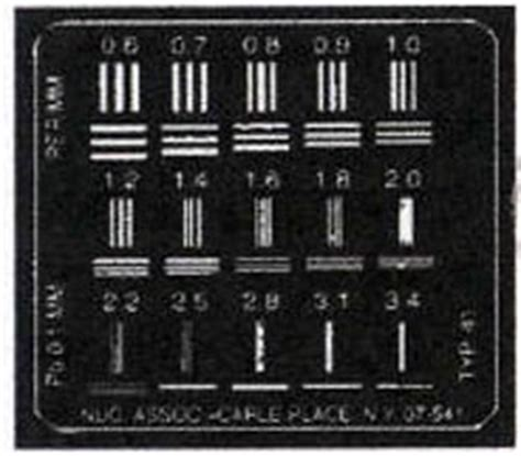 x ray test pattern test patterns quality control instrument models 07 501 to