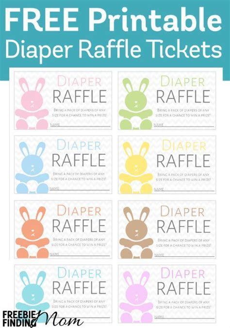 free printable diaper raffle tickets first birthday