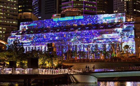 best christmas lights in fullerton fullerton hotel fa 231 ade light projection show launched day out