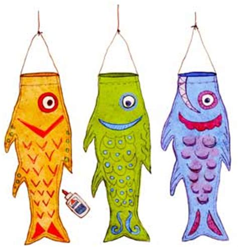 japanese fish kite template free paper toys from the toymaker
