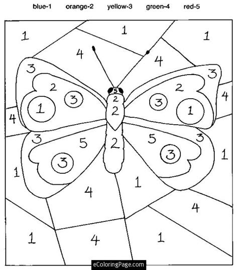 number coloring pages for printable color by number